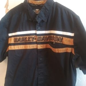 Harley Davidson Men's casual short sleeve shirt